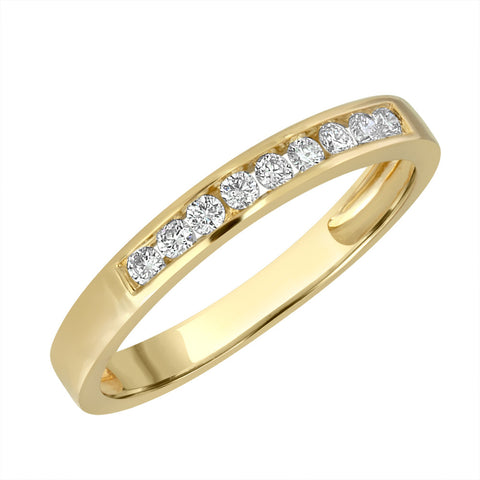White Gold Band Ring 14 KT in 0.20 Ct Tw | B700R020
