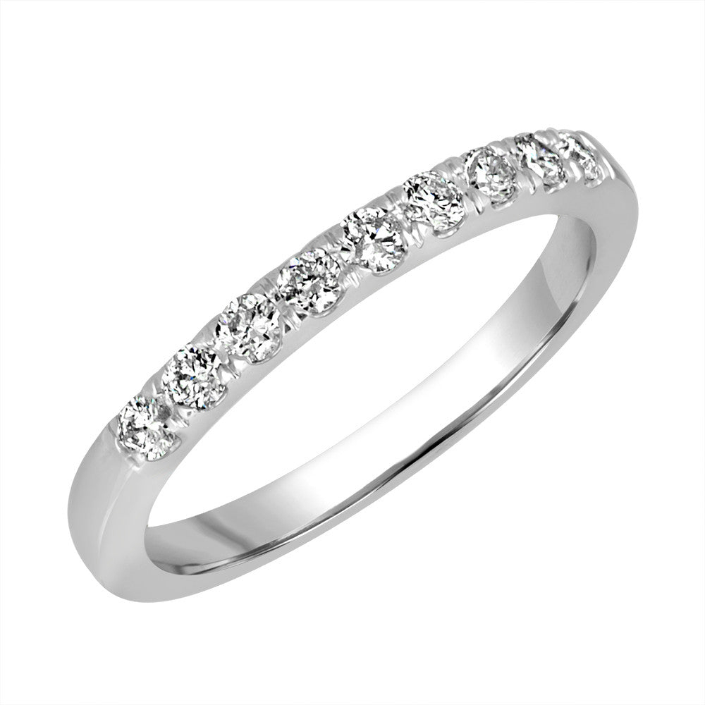 White Gold Band Ring 14 KT in 0.20 Ct Tw | B701R020
