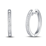 White Gold Diamond Hoop Earrings - S2012124