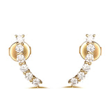 Yellow Gold Fashion Diamond Earrings - S2012126