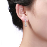 White Gold Diamond Cluster Earrings - S2012128