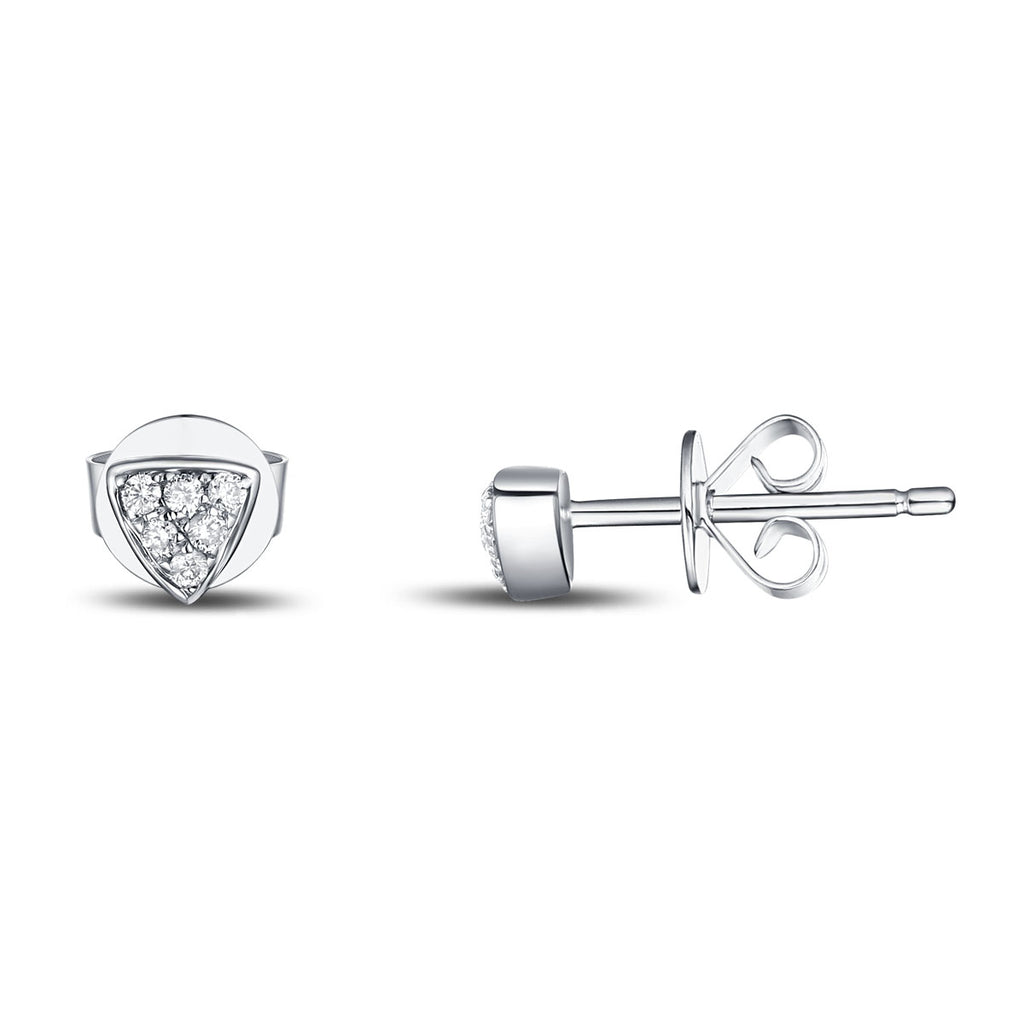 White Gold Fashion Diamond Earrings - S2012134