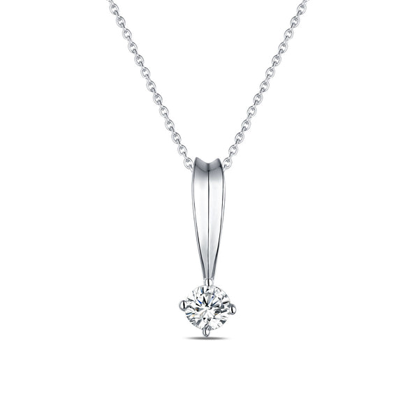 White Gold Diamond Solitaire Pendant - S2012177