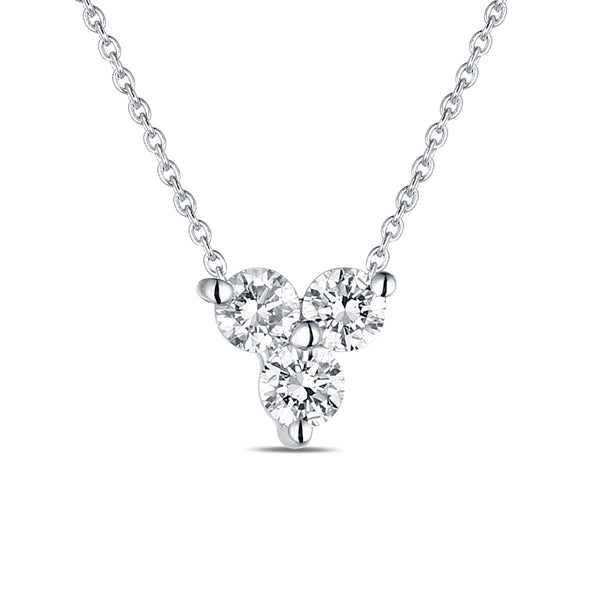 White Gold Fashion Diamond Pendant - S2012131