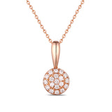 Rose Gold Fashion Diamond Pendant - S2012133