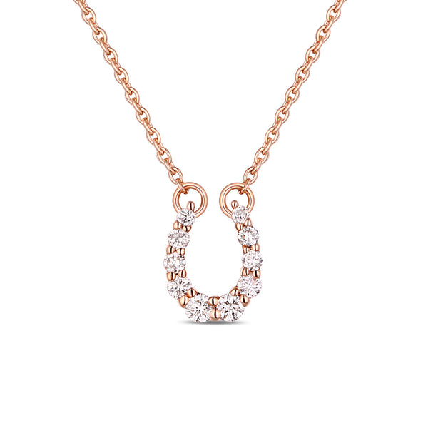 Rose Gold Diamond Horseshoe Pendant - S2012138