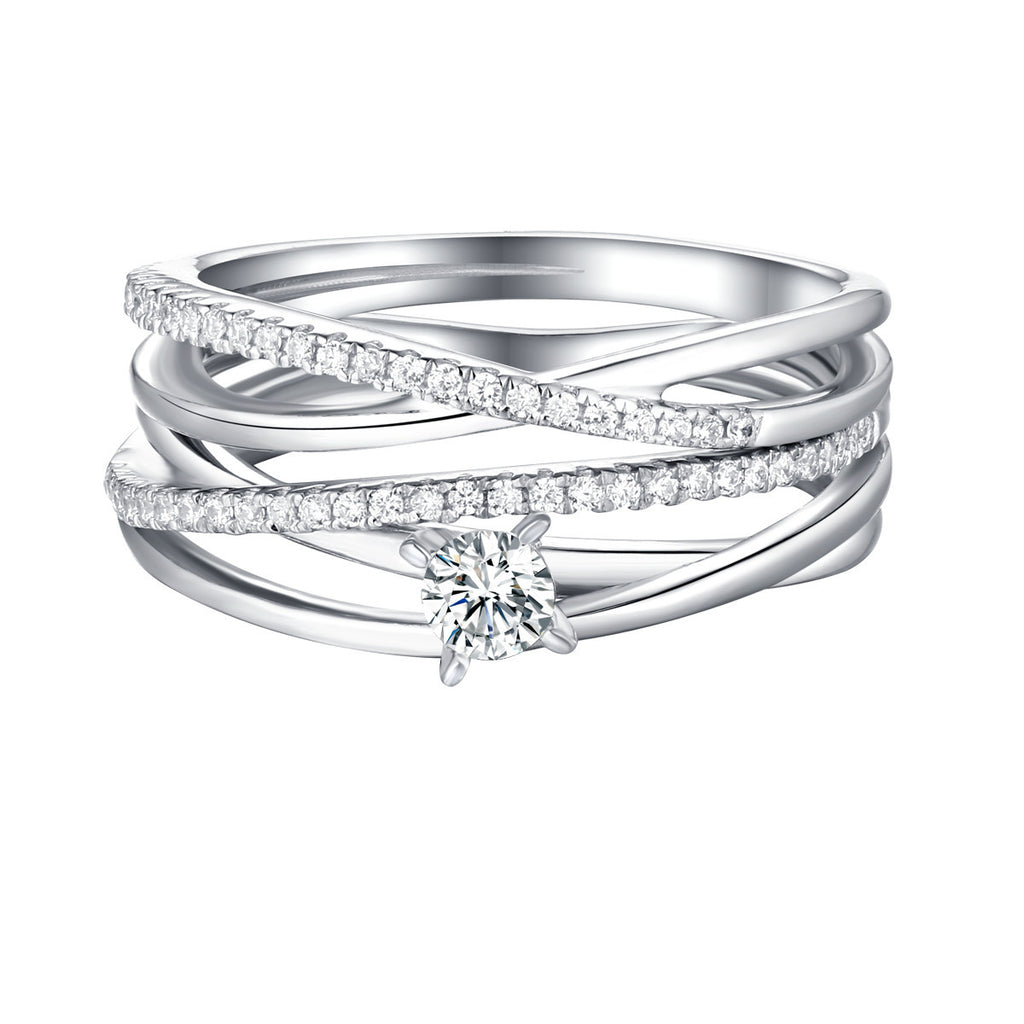 Beau Diamond Engagement Ring S201862A and Band Set S201862B