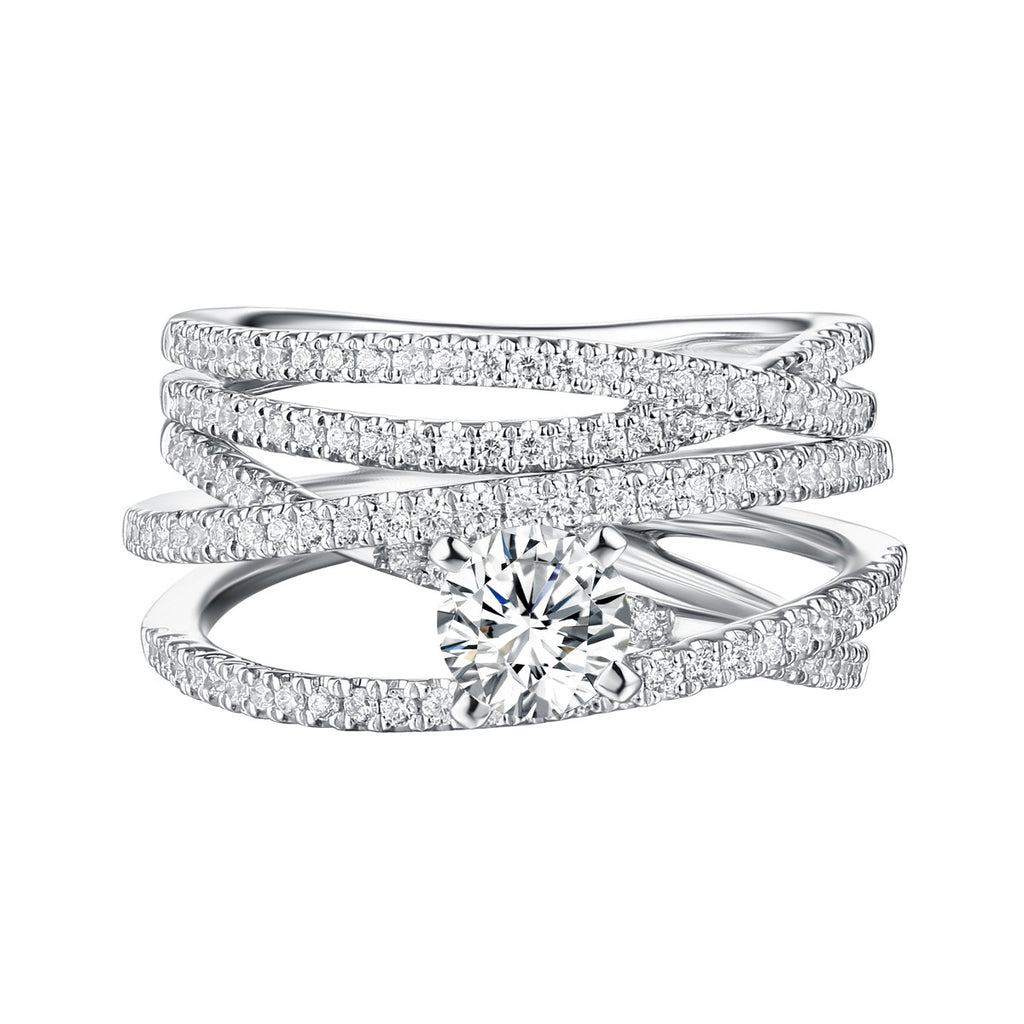 Classics Diamond Engagement Ring S201808A and Band Set S201808B
