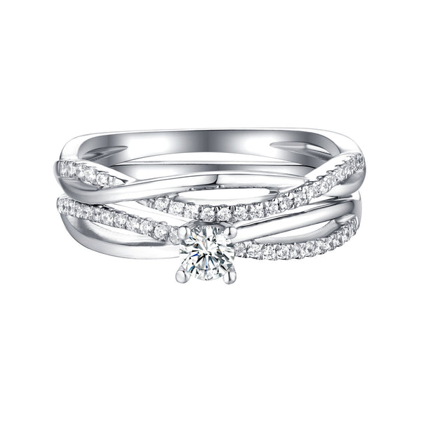 Beau Diamond Engagement Ring S201861A and Band Set S201861B