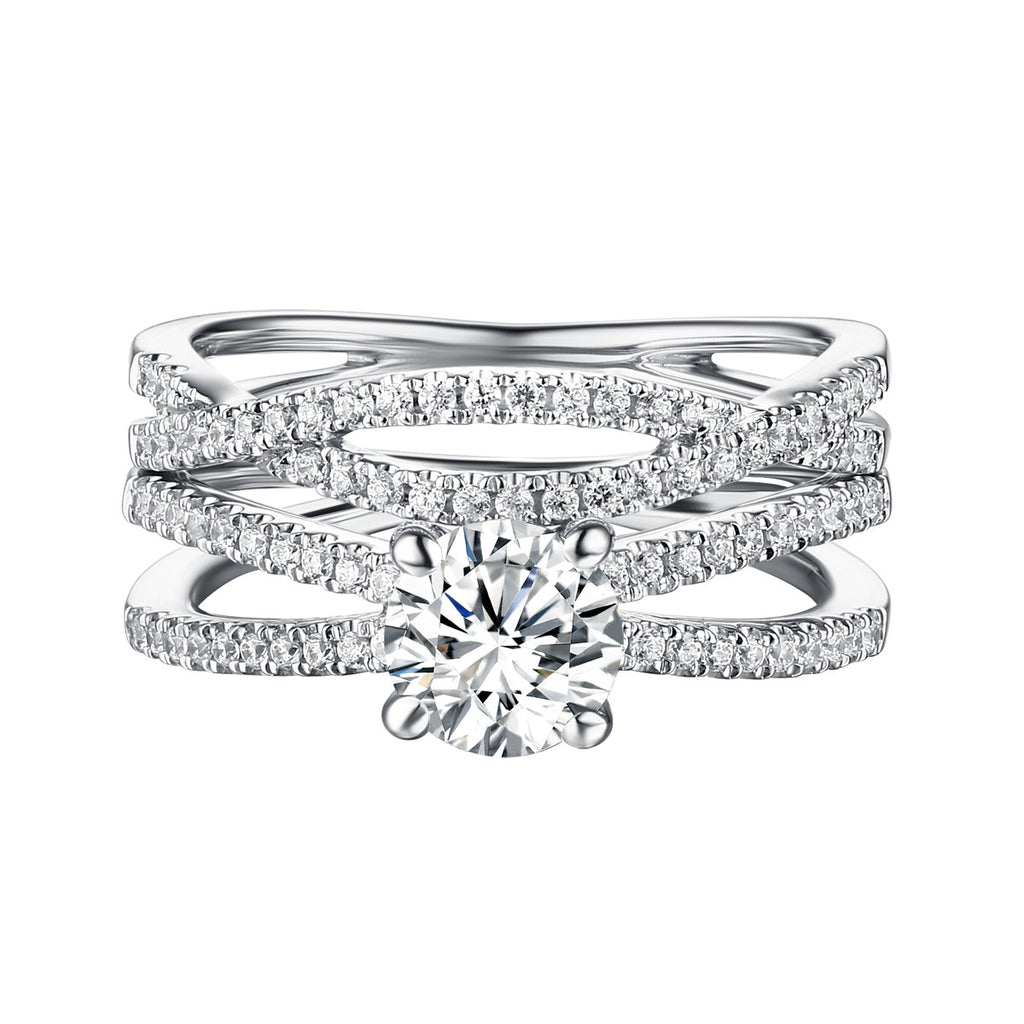 Classics Diamond Engagement Ring S201807A and Band Set S201807B