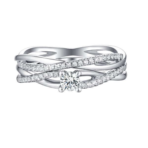 Beau Diamond Engagement Ring S201860A and Band Set S201860B