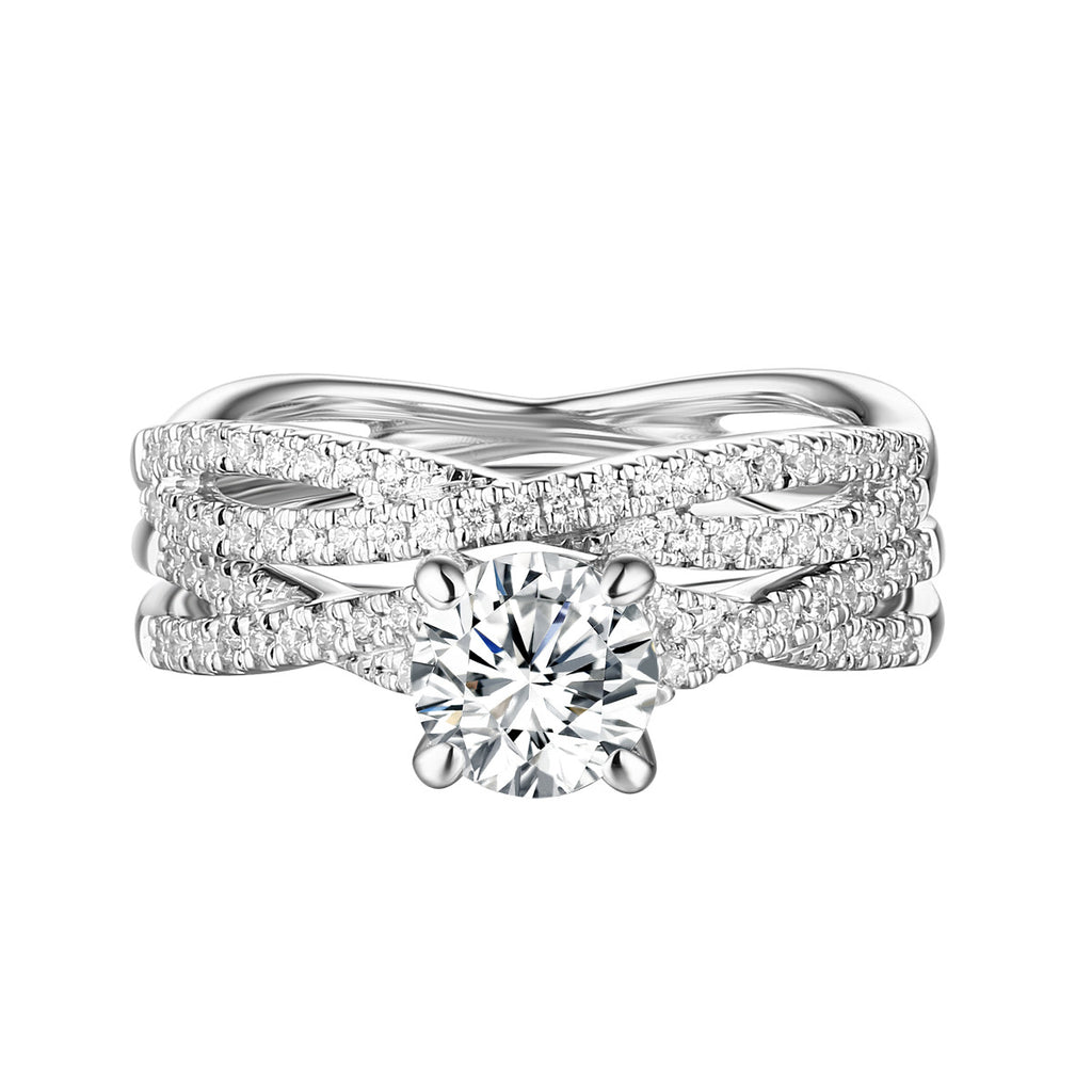 Classics Diamond Engagement Ring S201806A and Band Set S201806B