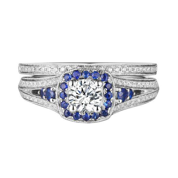 Precious Diamond Engagement Ring S201832A and Band Set S201832B