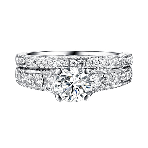 Classics Diamond Engagement Ring S201809A and Band Set S201809B