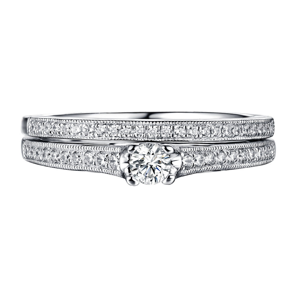 Beau Diamond Engagement Ring S201863A and Band Set S201863B