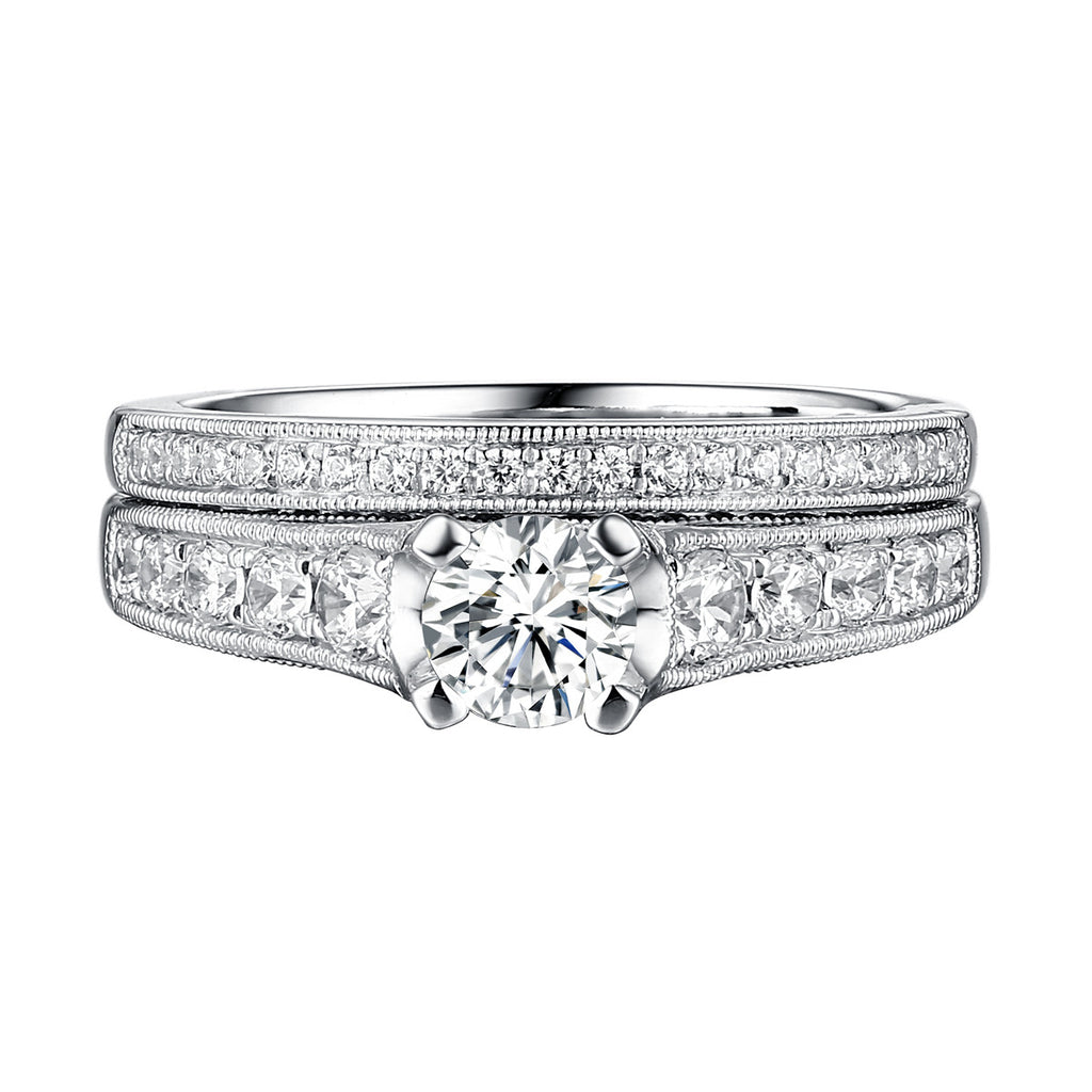Classics Diamond Engagement Ring S201810A and Band Set S201810B