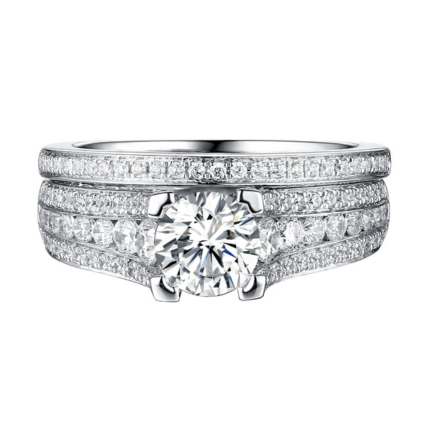 Classics Diamond Engagement Ring S201819A and Band Set S201819B