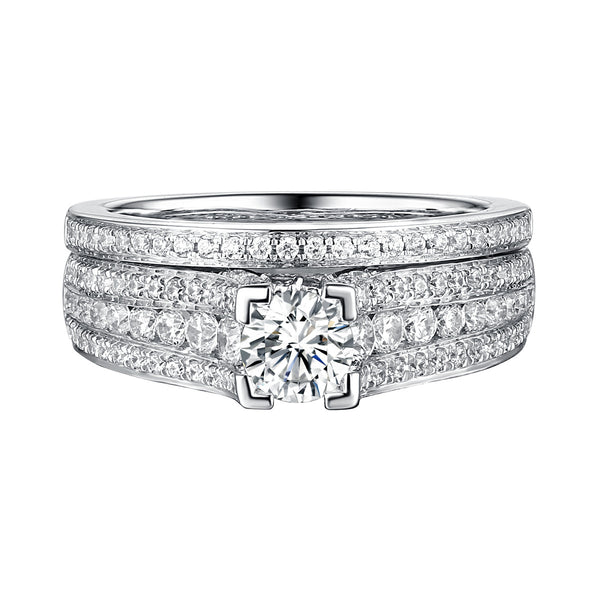 Classics Diamond Engagement Ring S201820A and Band Set S201820B