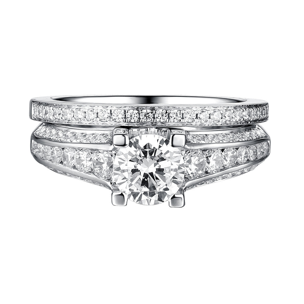 Classics Diamond Engagement Ring S201811A and Band Set S201811B
