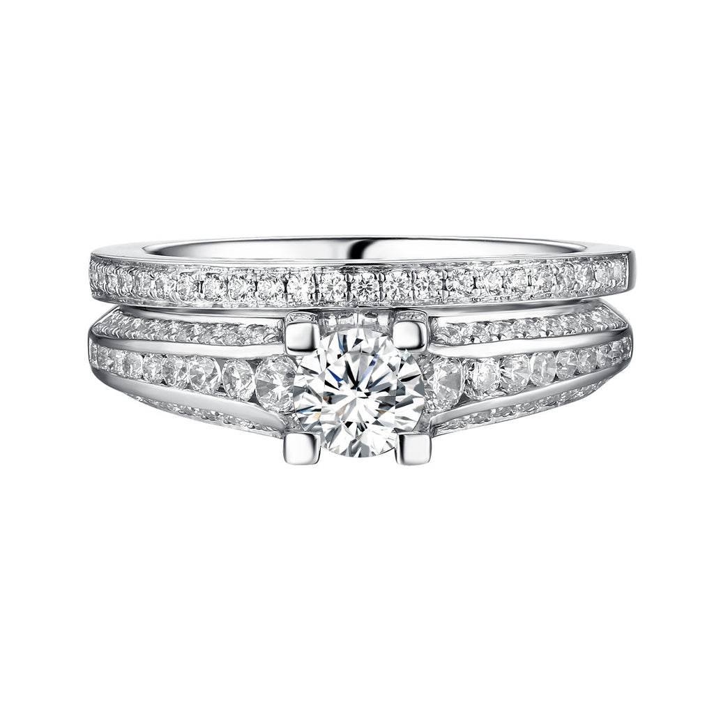 Classics Diamond Engagement Ring S201812A and Band Set S201812B