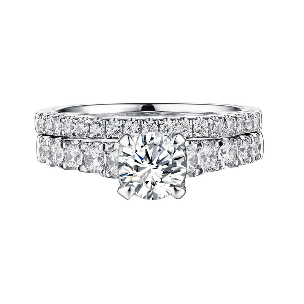 Classics Diamond Engagement Ring S201821A and Band Set S201821B