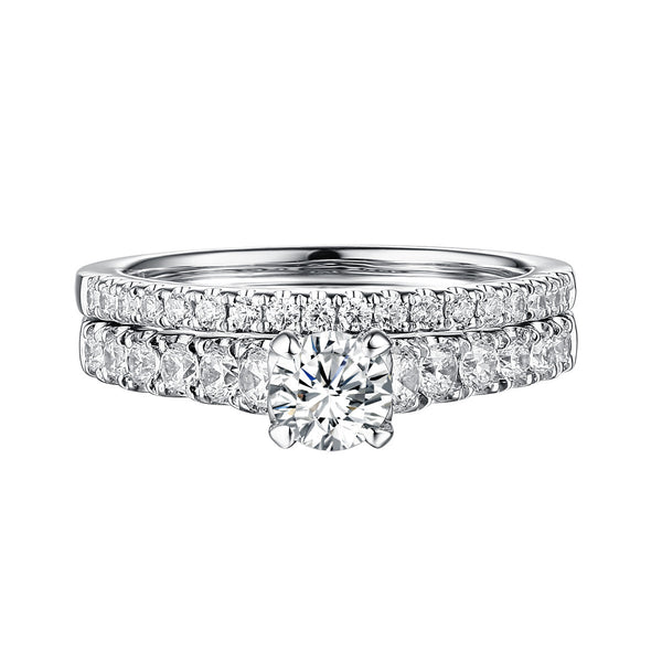 Classics Diamond Engagement Ring S201822A and Band Set S201822B