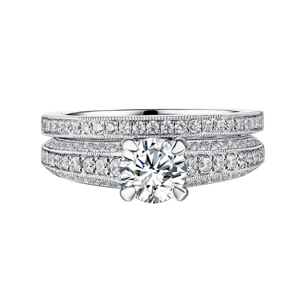 Classics Diamond Engagement Ring S201813A and Band Set S201813B