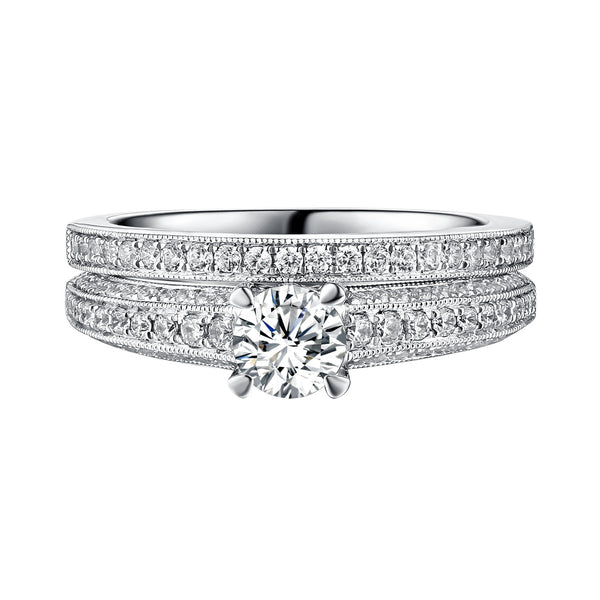 Classics Diamond Engagement Ring S201814A and Band Set S201814B