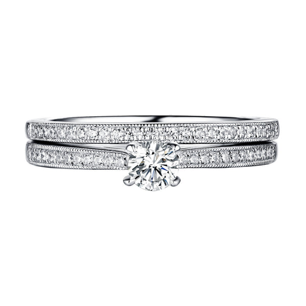 Beau Diamond Engagement Ring S201864A and Band Set S201864B
