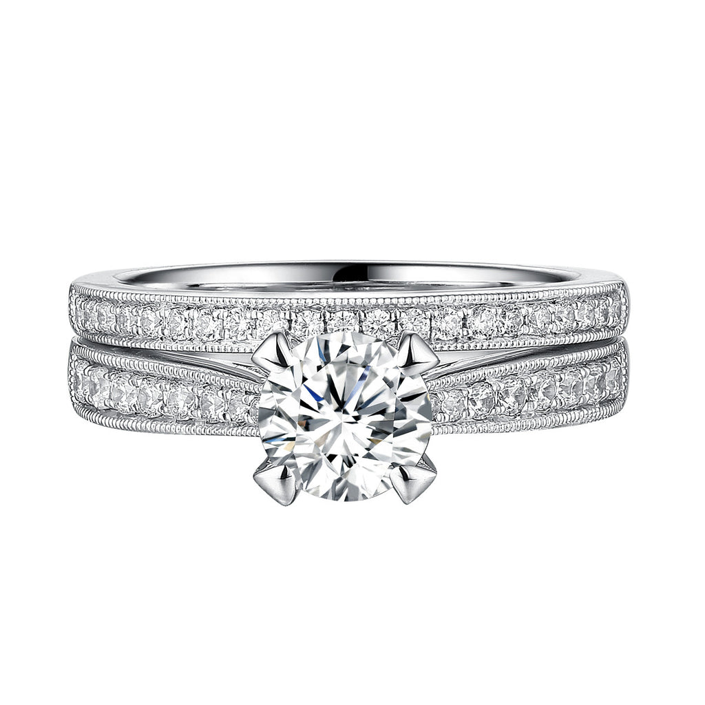 Classics Diamond Engagement Ring S201825A and Band Set S201825B