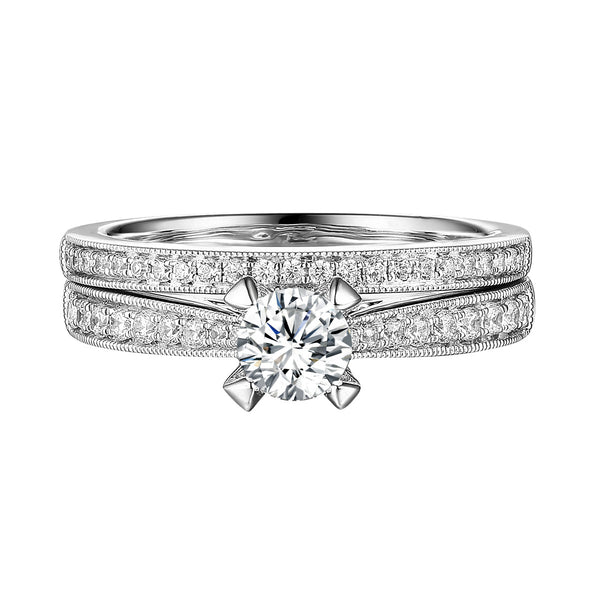 Classics Diamond Engagement Ring S201826A and Band Set S201826B