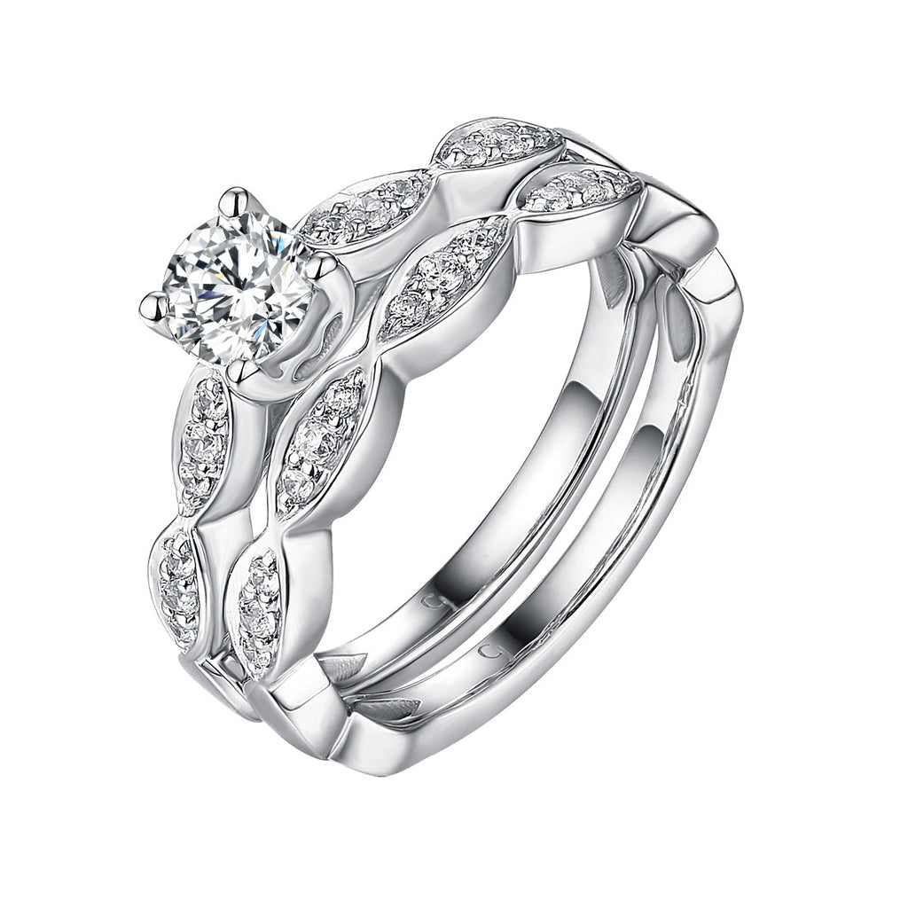 Classics Diamond Engagement Ring S201824A and Band Set S201824B