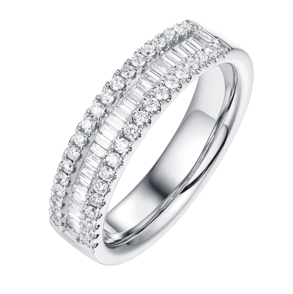 Taper Baguette Diamond Anniversary Band - S2012103B