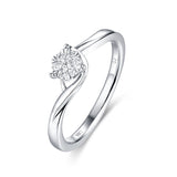 White Gold Diamond Cluster Ring - S2012147