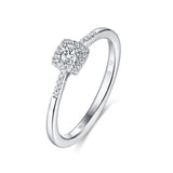 White Gold Diamond Cluster Halo Ring - S2012155