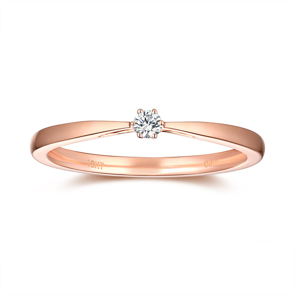 Rose Gold Diamond Promise Solitaire Ring - S2012165