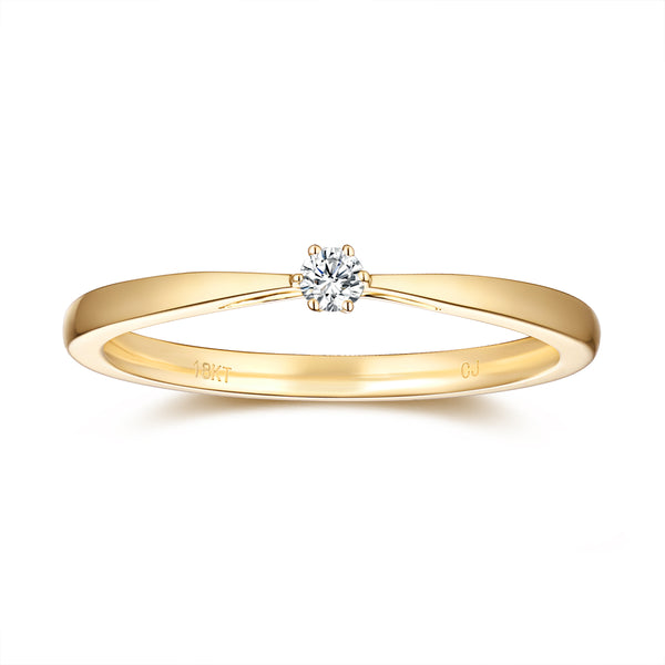 Yellow Gold Diamond Promise Solitaire Ring - S2012165