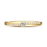 Yellow Gold Diamond Solitaire Plus Promise Ring - S2012168