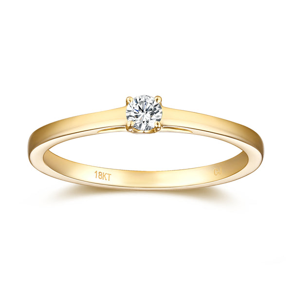 Yellow Gold Diamond Solitaire Promise Ring - S2012169