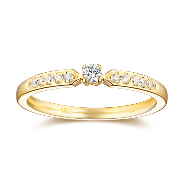 Yellow Gold Diamond Solitaire Plus Promise Ring - S2012170