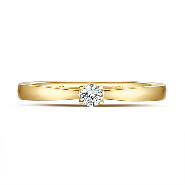 Yellow Gold Diamond Solitiare Promise Ring - S2012171