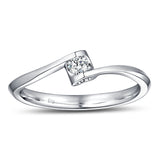 White Gold Diamond Promise Ring - S2012140