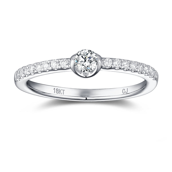 White Gold Diamond Promise Ring - S2012142