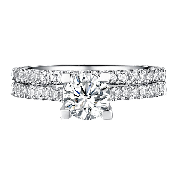 Classics Diamond Engagement Ring S201817A and Band Set S201817B
