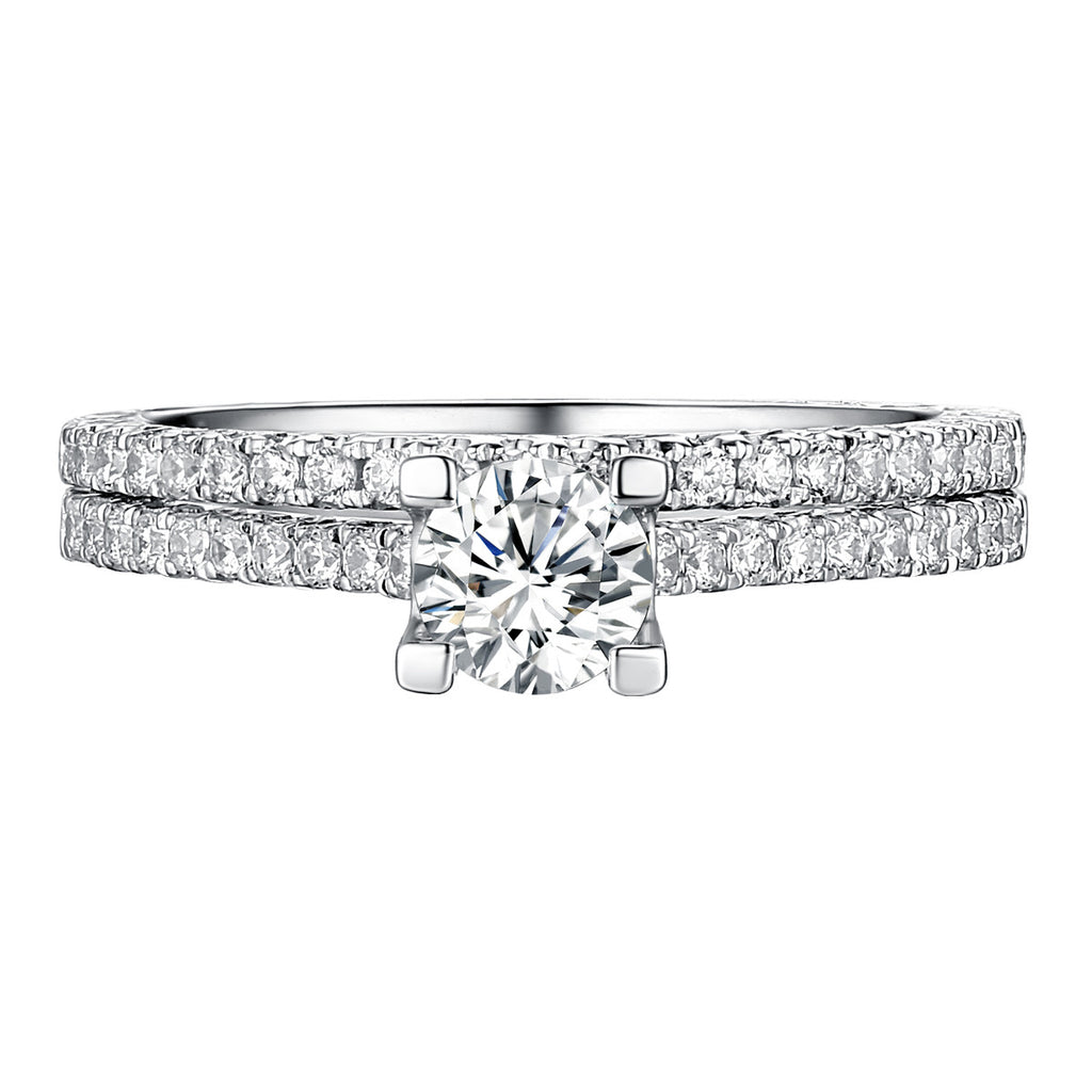 Classics Diamond Engagement Ring S201818A and Band Set S201818B