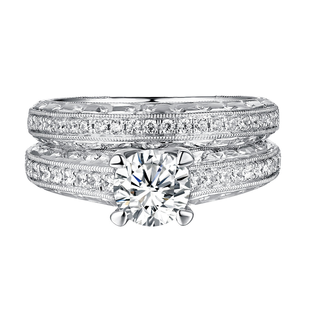 Classics Diamond Engagement Ring S201815A and Band Set S201815B