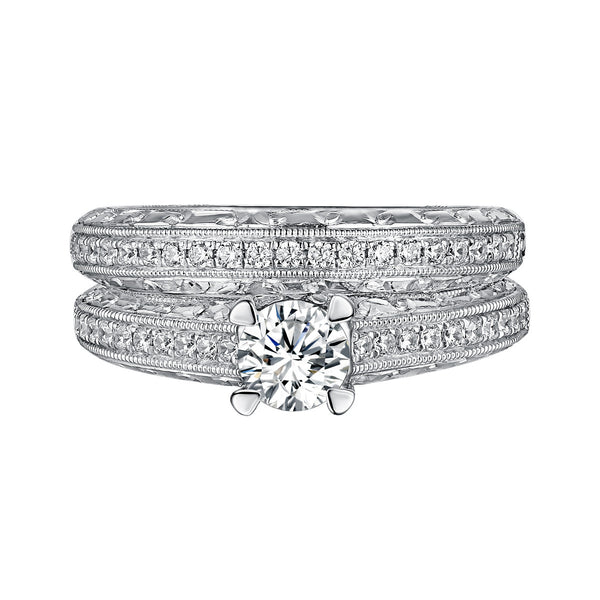 Classics Diamond Engagement Ring S201816A and Band Set S201816B