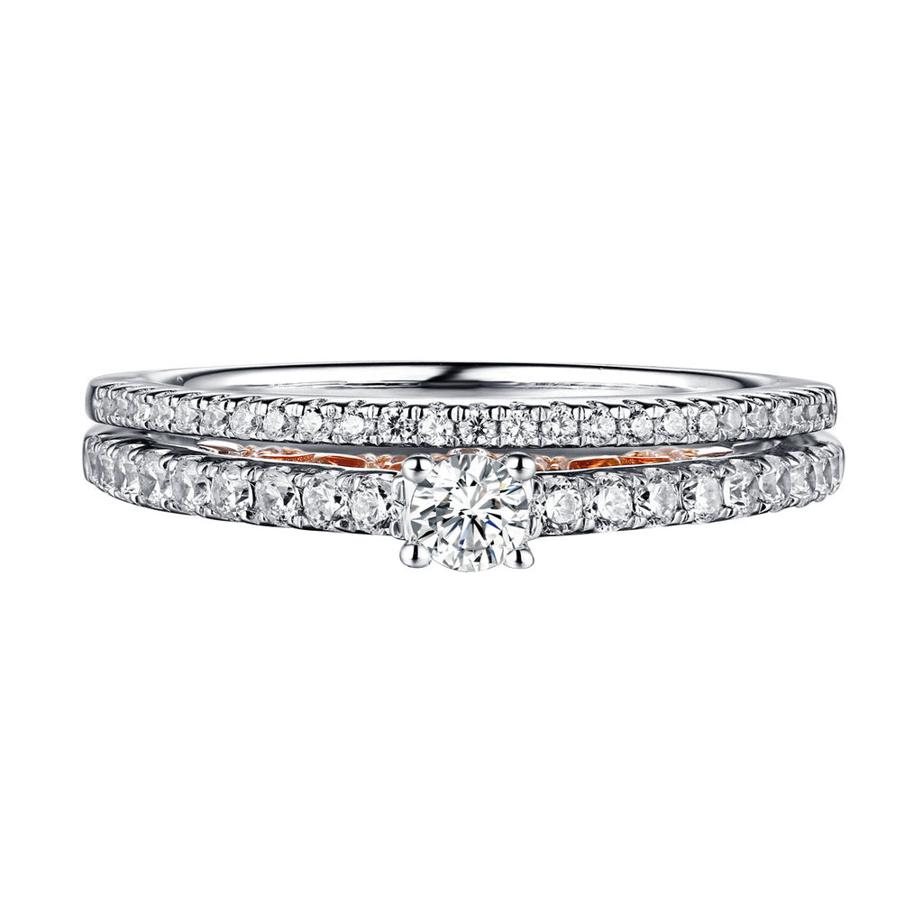 Beau Diamond Engagement Ring S201847A and Band Set S201847B