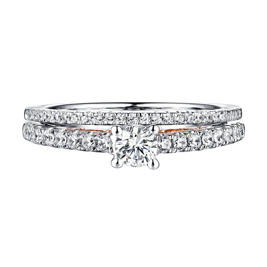 Beau Diamond Engagement Ring S201846A and Band Set S201846B