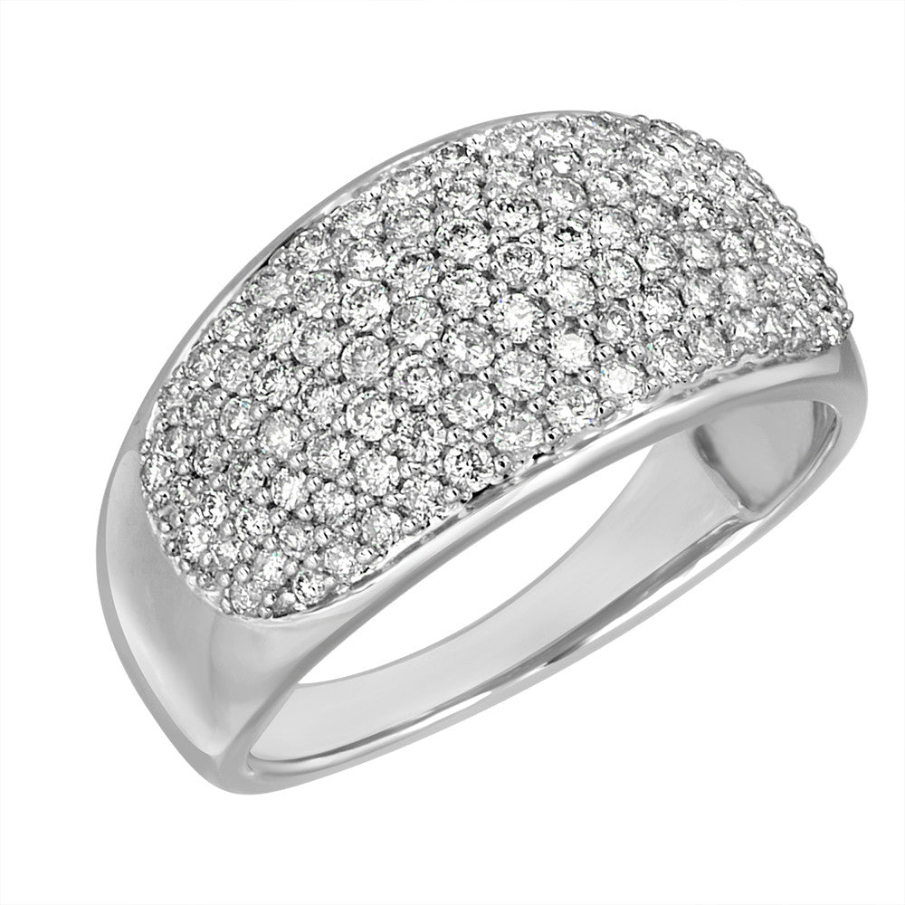 White Gold Band Ring 18 KT in 1.0 Ct Tw | EPV10R100